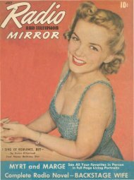 Radio And Television Mirror - Old Time Radio Researchers Group