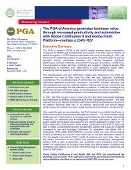 The PGA of America generates business value through increased ...