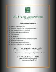 2011 Golf and Gourmet Package (20-40 guests) - Morgan Creek ...
