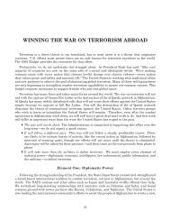 Winning the War on Terrorism Abroad - Chief Financial Officer