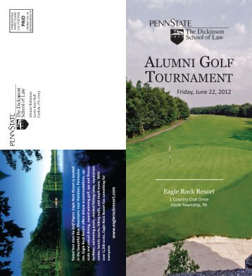 ALUMNI GOLF TOURNAMENT - Penn State Law
