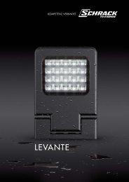 Produktfolder Levante - LED Strahler - Schrack
