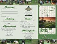 Golf Club H amilton M ill Golf Tournament - Georgia State University