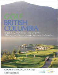 "Page 1 Page 2 Big Sky Golf and Country Club,"" Pembertom British ..."