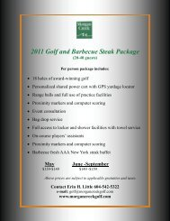 2011 Golf and Barbecue Steak Package - Morgan Creek Golf Course