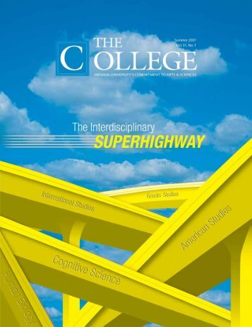 Summer 2007, Vol 31, No 1 - College of Arts and Sciences - Indiana ...