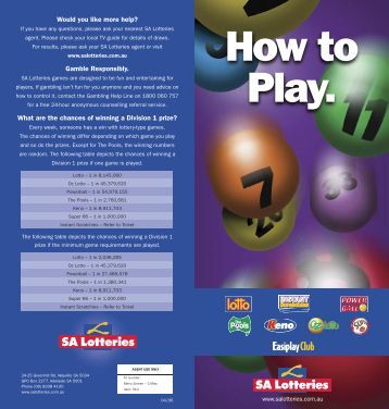 How to Play. - SA Lotteries