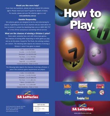 How to Play. - SA Lotteries