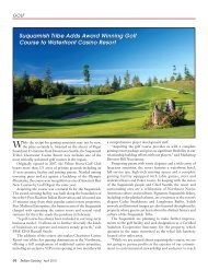 Suquamish Tribe Adds Award Winning Golf Course ... - Indian Gaming