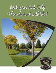 Host Your Next Golf Tournament with Us! - Sturgeon Valley Golf Club