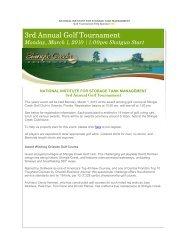 3rd Annual Golf Tournament - NISTM