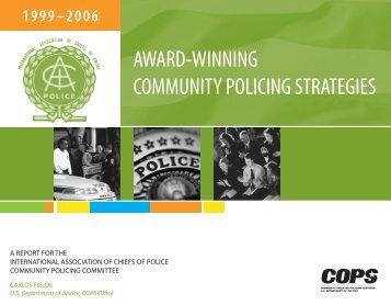 award-winning community policing strategies - Cops - Department of ...