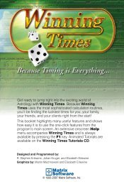Winning Times - Matrix Astrology Software