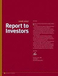 Report to Investors - Iona College