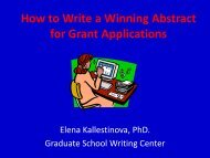 How to Write a Winning Abstract for Grant ... - Yale University