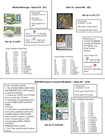 how to play crossword lottry