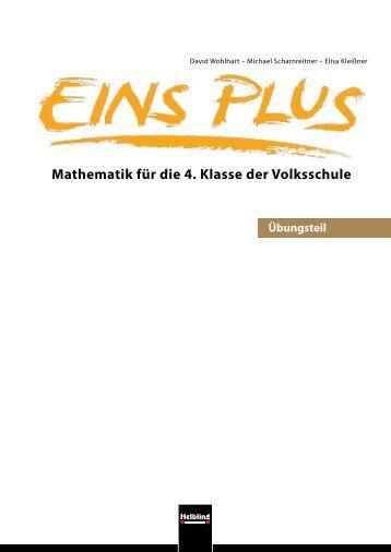Mathematik für die 4. Klasse der Volksschule - Helbling Verlag