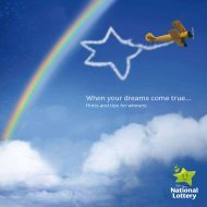 When your dreams come true... - National Lottery