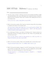Solution to Practice Midterm 2 - Department of Statistics and ...