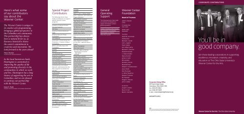 Corporate Council Members - Wexner Center for the Arts