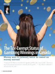 The Tax-Exempt Status Of Gambling Winnings In - Gaming Counsel ...