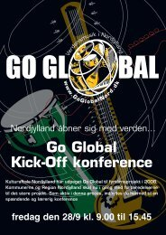 Kick-off konference Program her - Go Global Nord