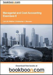 Managerial and Cost Accounting Exercises II - ezical.com.au