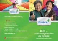 DUO - Seniorenbegleiterinnen und -begleiter - Landkreis Emsland