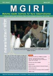 Draft March 2011 MGIRI Newsletter - Mahatma Gandhi Institute for ...