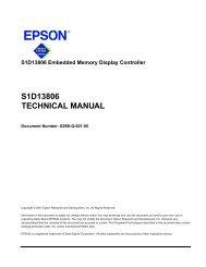 S1D13806 TECHNICAL MANUAL