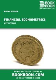 Financial Econometrics - With Eviews