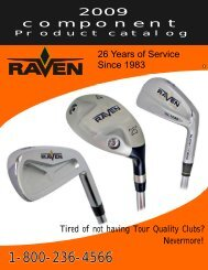 Product Catalog - Raven Golf Clubs
