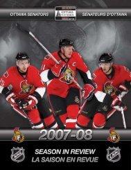 2007-08 Season in Review - Ottawa Senators