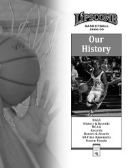 Our History - Lipscomb University Athletics