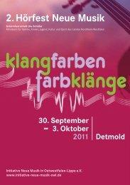 Hörfest Programm.pdf - Initiative Neue Musik in Ostwestfalen-Lippe eV