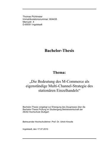 Thema bachelor thesis bwl elektrotechnik ru