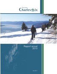 Rapport annuel 2010 - Tourisme Charlevoix