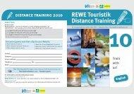 REWE Touristik Distance Training - Deutsches Touristik-Institut eV