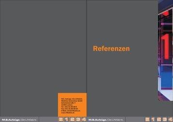 Broschüre Referenzen - MS Aufzüge
