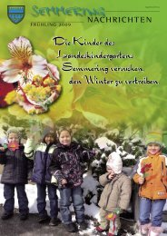 Gemeindezeitung Frühjahr 2009 - Semmering