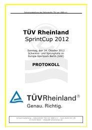 Protokoll - TÜV Rheinland SPRINTCUP