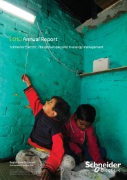 2010Annual Report - Schneider Electric CZ, s.r.o.