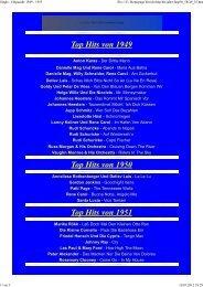 Top Hits von 1949 Top Hits von 1950 Top Hits von 1951