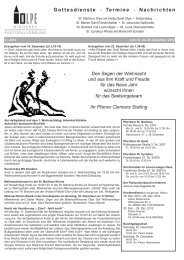 Gottesdienste * Termine * Nachrichten - Pastoralverbund Olpe ...
