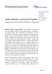 Jardim Atlantico receives EcoTrophea