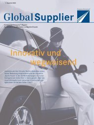 Download Global Supplier Magazin [Ausgabe 01/2003] - Daimler