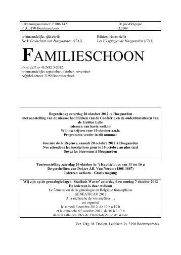 FAMILIESCHOON - Heemkring Hoegaarden
