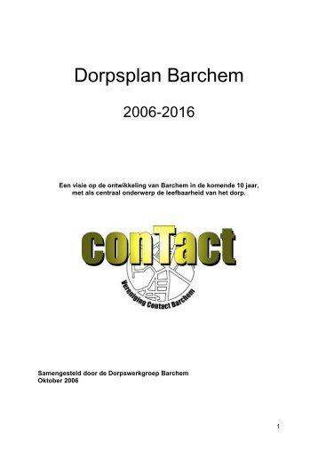 DORPSPLAN BARCHEM 2006 - 2016 - Contact Barchem