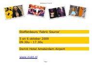 Stoffenbeurs 'Fabric Source' 5 en 6 oktober 2009 09.30u - Picassoweb