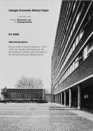 Cologne Economic History Paper 01-2006 - Wirtschaftsgeschichte ...